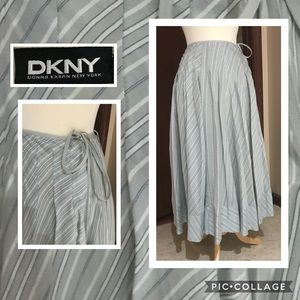 DKNY Maxi Pleated Silk Skirt